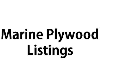 Marine Plywood Listings