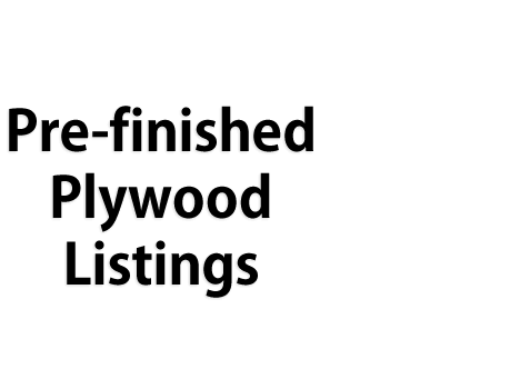 Prefinished Plywood Listings