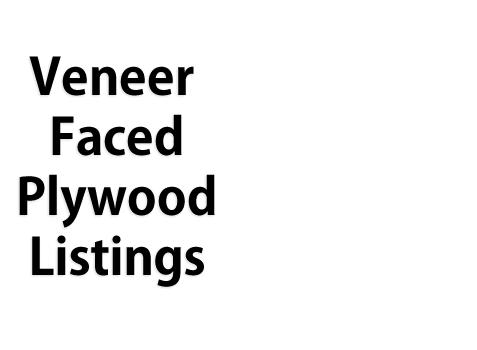 Veneer Faced Plywood Listings